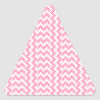 V&H Simple WideZigzag-Pale Pink and Carnation Pink Triangle Sticker