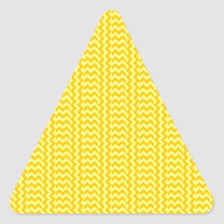 V&H Simple Zigzag - Yellow and Tangerine Yellow Stickers