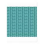 V&H SimpleWideZigzag-Celeste y verde profundo de Postal