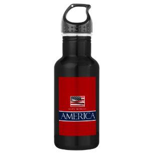 V Haopy Birthday America 4th July Water Bottle