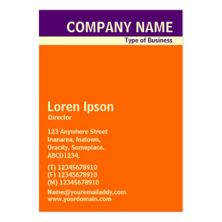 V Header Band - Deep Purple, Cream and Orange Large Business Card