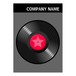 V Header - Image - LP Record - Gray Large Business Card
