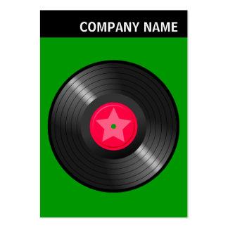 V Header - Image - LP Record - On Green Large Business Card