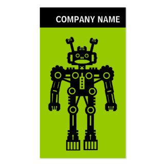 V Header - Photo - Robot - Green Business Card