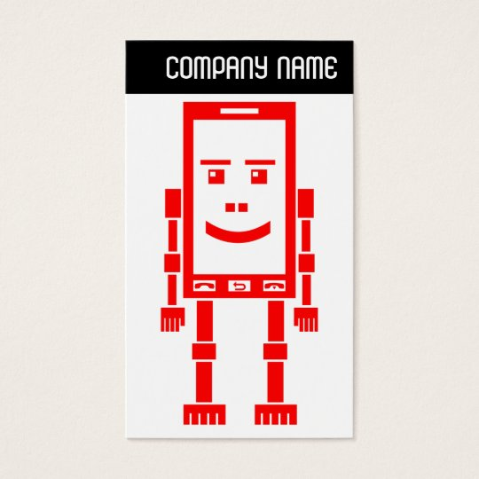 V Header - Robo-Phone - Red Business Card