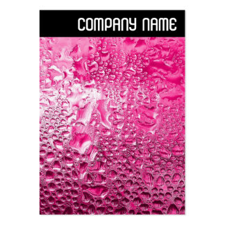 V Header - Steamy Pink Large Business Card