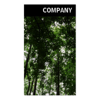 V Header - Woodland Canopy 01 Double-Sided Standard Business Cards (Pack Of 100)