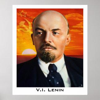 V I Lenin Poster