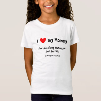 v) I love my Mommy Lung Tx - Kid's T T-Shirt