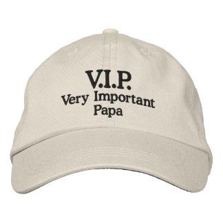 V.I.P. Papá muy importante Gorras Bordadas