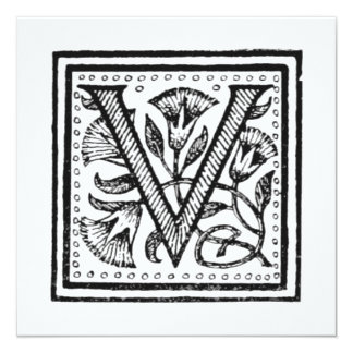 V Initial from A Monk of Fife Card