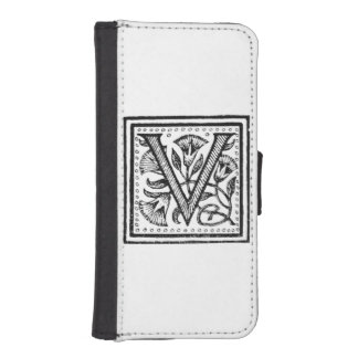 V Initial from A Monk of Fife iPhone SE/5/5s Wallet