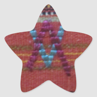 V invertidos pegatina en forma de estrella