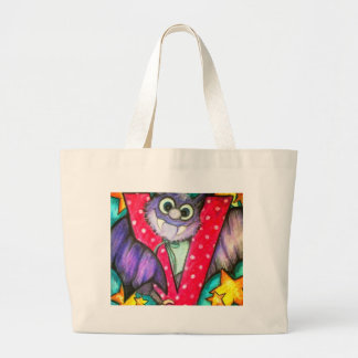 V is for Vampire Bat Large Tote Bag