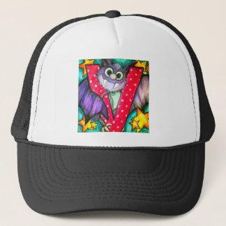 V is for Vampire Bat Trucker Hat