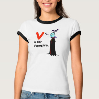 V is for Vampire T shirt