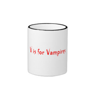 V is for Vampires Ringer Mug
