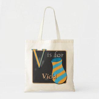 V Is For Vase V Is For Vicki Budget Tote Bag