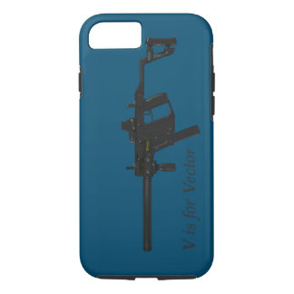 V is for Vector Submachine Gun iPhone 8/7 Case