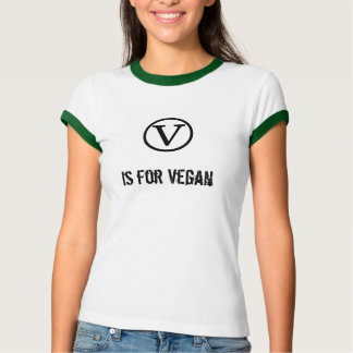 V is for Vegan Tee Shirt
