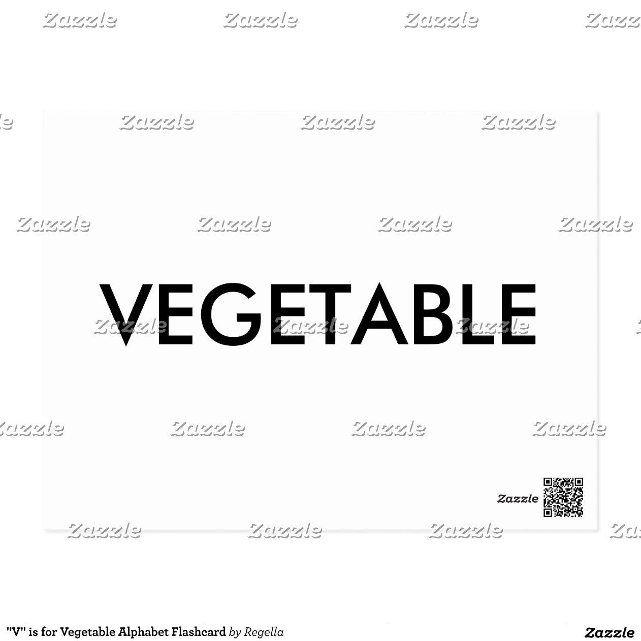 V Is For Vegetables   V   is for Vegetable Alphabet