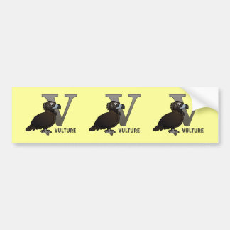 V is for Vulture Bumper Sticker