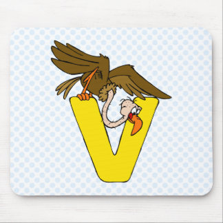V is for Vulture Mouse Pad