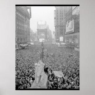 V-J Day in New York City_War Image Poster