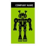 V jefe - foto - robot - verde plantillas de tarjeta de negocio
