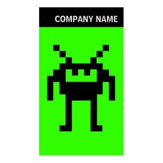 V jefe - imagen - Nanobot en 33FF00 verde Tarjetas De Visita