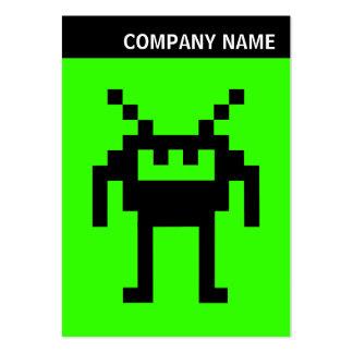 V jefe - imagen - Nanobot en 33FF00 verde Tarjetas De Visita Grandes