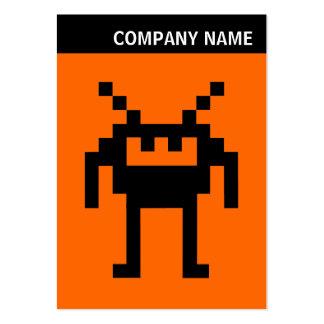 V jefe - imagen - Nanobot en el naranja Tarjetas De Visita Grandes