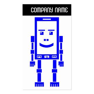V jefe - Robo-Teléfono - azul Plantilla De Tarjeta De Negocio