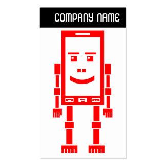 V jefe - Robo-Teléfono - rojo Tarjeta De Visita