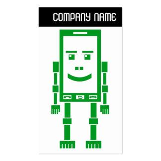 V jefe - Robo-Teléfono - verde Tarjetas Personales