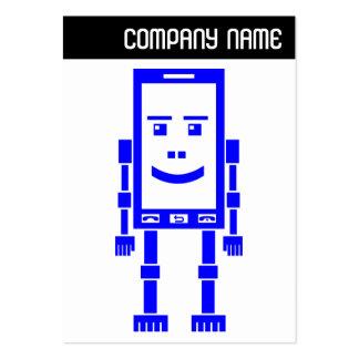 V jefe - teléfono de Robo - azul Plantillas De Tarjetas Personales