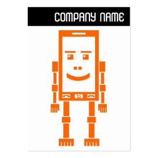 V jefe - teléfono de Robo - naranja Plantillas De Tarjetas De Visita