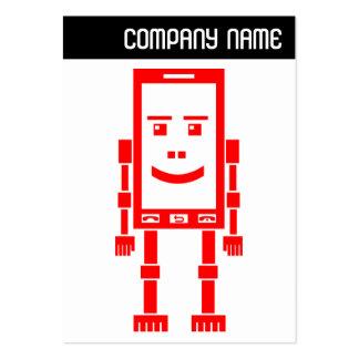 V jefe - teléfono de Robo - rojo Tarjetas De Visita