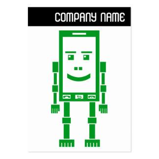 V jefe - teléfono de Robo - verde Tarjetas De Visita