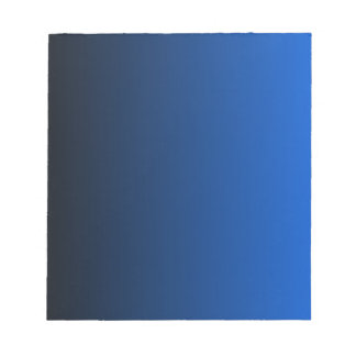 V Linear Gradient - Black to Blue Notepad