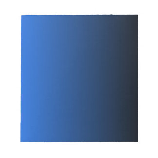 V Linear Gradient - Blue to Black Notepad