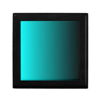 V Linear Gradient - Cyan to Black Keepsake Box