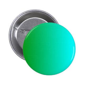 V Linear Gradient - Green to Cyan Pinback Button