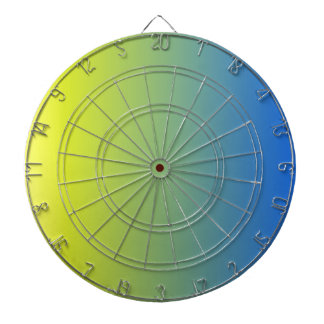 V Linear Gradient - Yellow to Blue Dartboard