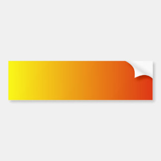 V Linear Gradient - Yellow to Red Bumper Sticker