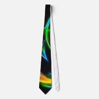 V llama - llama colorida del fractal corbata