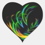 V llama pegatina corazon personalizadas