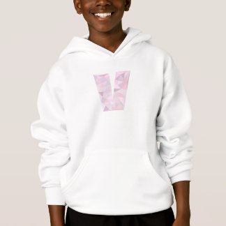 V - Low Poly Triangles - Neutral Pink Purple Gray Hoodie