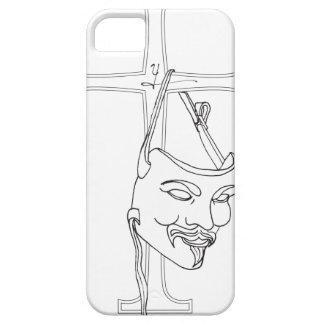 v máscara final pdf iPhone 5 fundas