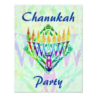 V Menorah Chanukah Party Invitations
